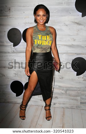 LOS ANGELES - SEP 24:  Christina Milian at the VIP Sneak Peek Of go90 Social Entertainment Platform at the Wallis Annenberg Center for the Performing Arts on September 24, 2015 in Los Angeles, CA - stock photo