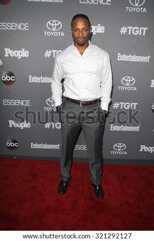 LOS ANGELES - SEP 26:  Cornelius Smith Jr at the TGIT 2015 Premiere Event Red Carpet at the Gracias Madre on September 26, 2015 in Los Angeles, CA - stock photo
