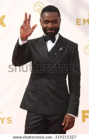 LOS ANGELES - SEP 20:  David Oyelowo at the Primetime Emmy Awards Arrivals at the Microsoft Theater on September 20, 2015 in Los Angeles, CA - stock photo
