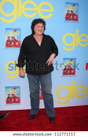 LOS ANGELES - SEP 12:  Dot Marie Jones arrives at the Glee 4th Season Premiere Screening at Paramount Theater on September 12, 2012 in Los Angeles, CA - stock photo