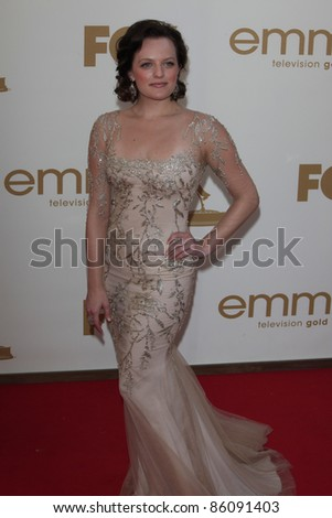 LOS ANGELES - SEP 18: Elisabeth Moss at the 63rd Annual Primetime Emmy Awards held at Nokia Theater L.A. LIVE on September 18, 2011 in Los Angeles, California - stock photo