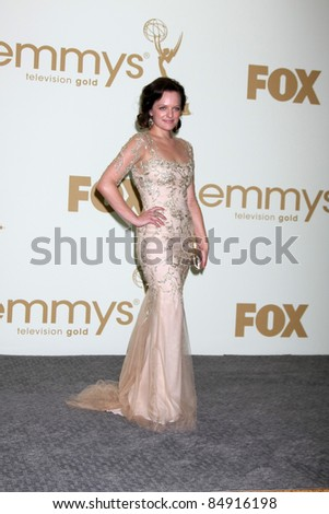 LOS ANGELES - SEP 18:  Elisabeth Moss in the Press Room at the 63rd Primetime Emmy Awards at Nokia Theater on September 18, 2011 in Los Angeles, CA - stock photo