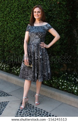 LOS ANGELES - SEP 29:  Emily Deschanel at the Rape Foundation Annual Brunch at Green Acres Estate on September 29, 2013 in Beverly Hills, CA - stock photo