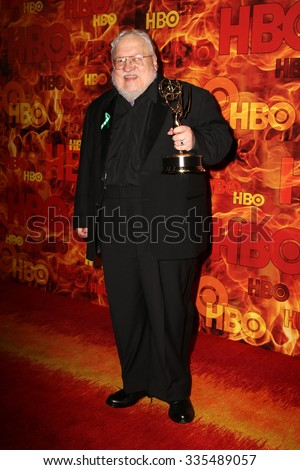 LOS ANGELES - SEP 20:  George R. R. Martin at the HBO Primetime Emmy Awards After-Party at the Pacific Design Center on September 20, 2015 in West Hollywood, CA - stock photo