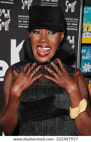 LOS ANGELES - SEP 29:  Grace Jones at the Grace Jones signs 'I'll Never Write My Memoirs' at the Book Soup on September 29, 2015 in West Hollywood, CA - stock photo