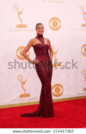 LOS ANGELES - SEP 22:  Heidi Klum at the  at Nokia Theater on September 22, 2013 in Los Angeles, CA - stock photo
