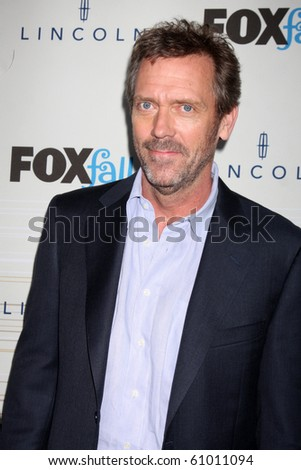 LOS ANGELES - SEP 13:  Hugh Laurie arrives at the 2010 FOX Fall Eco-Casino Party at Boa Resturant on September 13, 2010 in W. Los Angeles, CA - stock photo