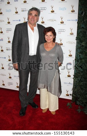 LOS ANGELES - SEP 20:  Jim Carter, Imelda Staunton at the Emmys Performers Nominee Reception at  Pacific Design Center on September 20, 2013 in West Hollywood, CA - stock photo