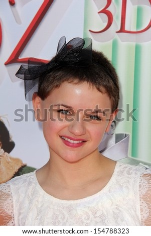 """LOS ANGELES - SEP 15:  Joey King at the """"The Wizard Of Oz 3D"""" World Premiere Screening at TCL Chinese IMAX Theate on September 15, 2013 in Los Angeles, CA - stock photo"""