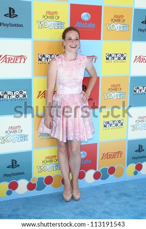 LOS ANGELES - SEP 15:  Katie Leclerc arrives at the Variety's Power Of Youth Event at Paramount Studios on September 15, 2012 in Los Angeles, CA - stock photo