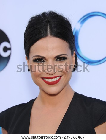 "LOS ANGELES - SEP 21:  Lana Parrilla arrives to the ""Once Upon A Time"" Season Premiere on September 21, 2014 in Hollywood, CA                 - stock photo"