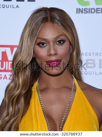 LOS ANGELES - SEP 18:  Laverne Cox Television Industry Advocacy Awards  on September 18, 2015 in Hollywood, CA                 - stock photo