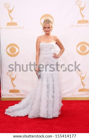 LOS ANGELES - SEP 22:  Malin Akerman at the 65th Emmy Awards - Arrivals at Nokia Theater on September 22, 2013 in Los Angeles, CA - stock photo