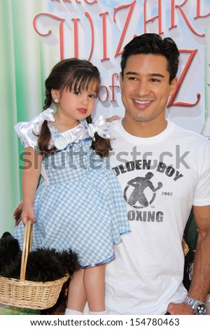 """LOS ANGELES - SEP 15:  Mario Lopez at the """"The Wizard Of Oz 3D"""" World Premiere Screening at TCL Chinese IMAX Theate on September 15, 2013 in Los Angeles, CA - stock photo"""