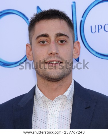 "LOS ANGELES - SEP 21:  Michael Socha arrives to the ""Once Upon A Time"" Season Premiere on September 21, 2014 in Hollywood, CA                 - stock photo"