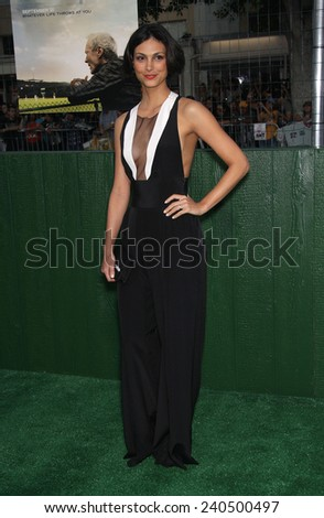 """LOS ANGELES - SEP 19:  Morena Baccarin arrives to """"Trouble With The Curve"""" Los Angeles Premiere  on September 19, 2012 in Westwood, CA                 - stock photo"""