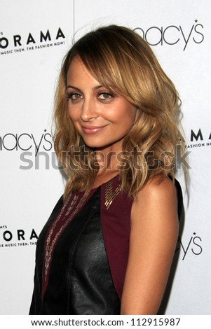 LOS ANGELES - SEP 7:  Nicole Richie arrives at the Macy's Passport 30th Glamorama at Orpheum Theater on September 7, 2012 in Los Angeles, CA - stock photo