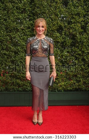 LOS ANGELES - SEP 12:  Sasha Alexander at the Primetime Creative Emmy Awards Arrivals at the Microsoft Theater on September 12, 2015 in Los Angeles, CA - stock photo