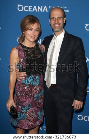 """LOS ANGELES - SEP 28:  Sasha Alexander, Edoardo Ponti at the """"Concert for Our Oceans"""" benefitting Oceana at the Wallis Annenberg Center on September 28, 2015 in Beverly Hills, CA - stock photo"""