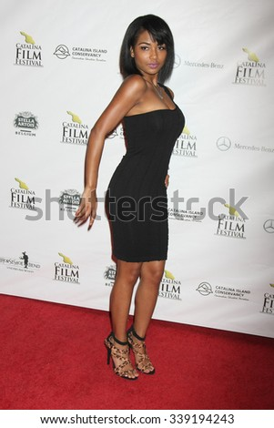 LOS ANGELES - SEP 25:  Scytorya Rhodes at the Catalina Film Festival Friday Evening Gala at the Avalon Theater on September 25, 2015 in Avalon, CA - stock photo