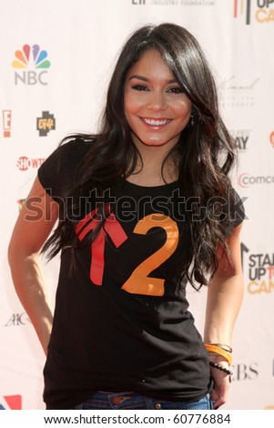 "LOS ANGELES - SEP 10:  Vanessa Hudgens arrives at the ""Stand Up 2 Cancer"" 2010 Event at Sony Studios on September 10, 2010 in Culver City, CA - stock photo"