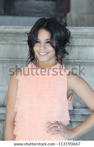 LOS ANGELES - SEP 15:  Vanessa Hudgens arrives at the Variety's Power Of Youth Event at Paramount Studios on September 15, 2012 in Los Angeles, CA - stock photo