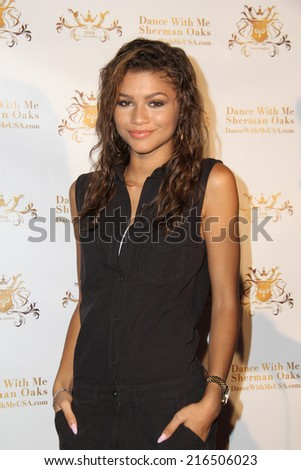 LOS ANGELES - SEP 10:  Zendaya Coleman at the Dance With Me USA Grand Opening at Dance With Me Studio on September 10, 2014 in Sherman Oaks, CA - stock photo