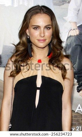 """LOS ANGELES, USA - JANUARY 11: Natalie Portman at the Los Angeles Premiere of """"No Strings Attached"""" held at the Regency Village Theatre in Westwood, USA on January 11, 2011. - stock photo"""