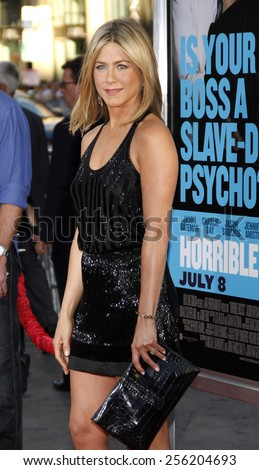 """LOS ANGELES, USA - JUNE 30: Jennifer Aniston at the Los Angeles Premiere of """"Horrible Bosses"""" held at the Grauman's Chinese Theater in Hollywood, USA on June 30, 2011. - stock photo"""