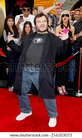 "LOS ANGELES, USA - MAY 22: Jack Black at the Los Angeles Premiere of ""Kung Fu Panda 2"" held at the Grauman's Chinese Theatre in Hollywood, USA on May 22, 2011. - stock photo"