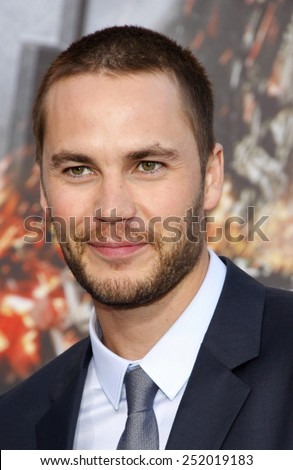 "LOS ANGELES, USA - MAY 10: Taylor Kitsch at the Los Angeles premiere of ""Battleship"" held at the Nokia Theatre L.A. Live, Los Angeles, USA on May 10, 2012. - stock photo"