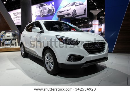 Los-Angeles, USA - Nov 19, 2015: Hyundai at the LA Auto Show on Nov 19, 2015 in LA, California - stock photo