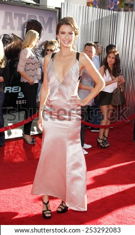 """LOS ANGELES, USA - OCTOBER 2: Olga Fonda at the Los Angeles Premiere of """"Real Steel"""" held at the Gibson Amphitheatre in Universal City, USA on October 2, 2011. - stock photo"""