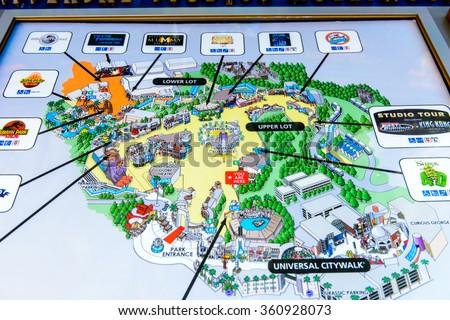 Atlas  Los Angeles Map Universal Studios
