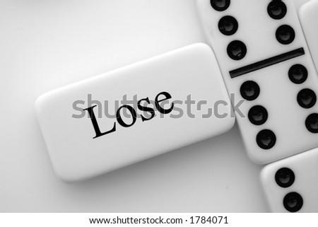 Lose - stock photo
