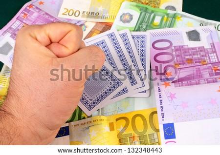 Lose money on gambling - stock photo