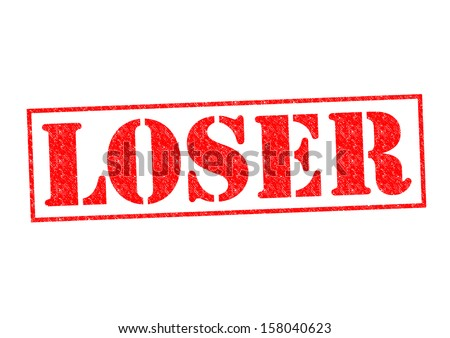 LOSER Rubber Stamp over a white background. - stock photo