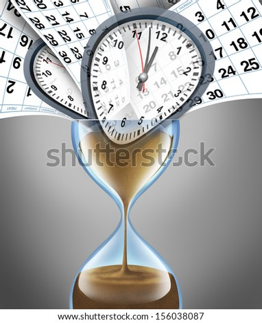 Losing time business concept for important appointment dates on a daily month calendar as lifestyle stress deadlines and schedule management with planning or strategy for family and a financial date. - stock photo