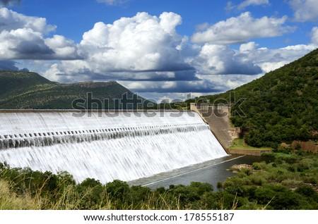 Loskop Dam South Africa spillway - stock photo