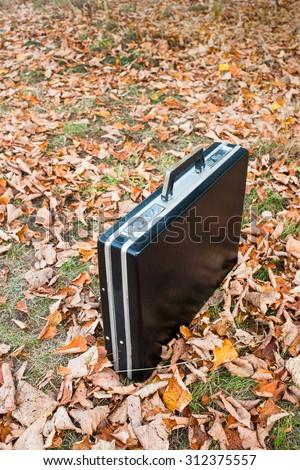 Lost briefcase - stock photo