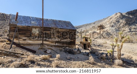 Lost Burro Mine ghost town in Death Valley National Park, California - stock photo