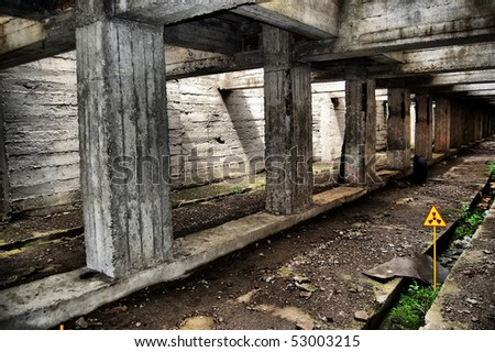 Lost city.Near Chernobyl area.Kiev region,Ukraine - stock photo
