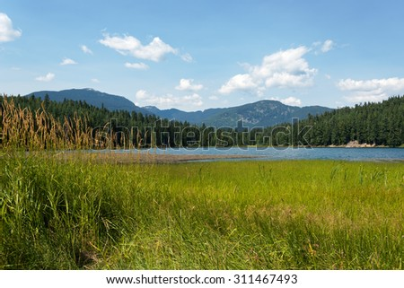 Lost Lake, in Whistler, Canada - stock photo