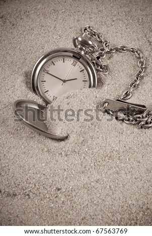 Lost Time Conceptual Image - stock photo