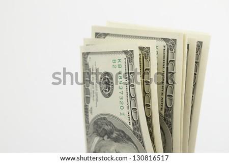 Lot of American money - stock photo