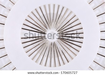 Lot of metal pins in circle. - stock photo