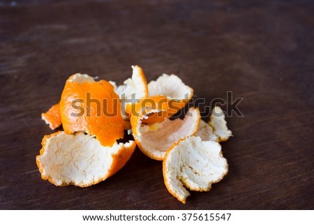Lot of orange peel  - stock photo