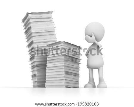 lot of work - stock photo