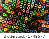 Lots of art pens - stock photo