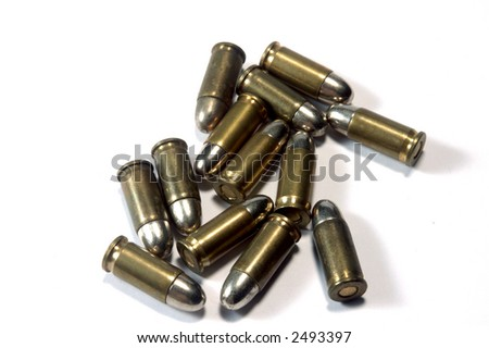 lots of bullets on white background - stock photo